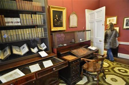 A visitor views the study at the Charles Dickens Museum in central London December 10, 2012. REUTERS/Toby Melville