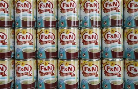 Stacks of Fraser and Neave (F&N) products are on display at its factory in Pulau Indah outside Kuala Lumpur December 4, 2012. REUTERS/Bazuki Muhammad