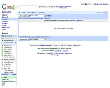 The Google web browser screen including instant message chat window is seen in this handout photo. REUTERS/Google/handout