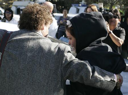 Jacqueline Rivera, daughter of Jenni Rivera, arrives at the home of Jenni Rivera's mother, in Lakewood, California, December 10, 2012. REUTERS/Jonathan Alcorn
