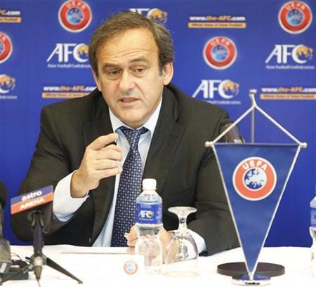 UEFA President Michel Platini speaks after the signing of AFC-UEFA Memorandum of Understanding at AFC House in Kuala Lumpur December 11, 2012. REUTERS/Bazuki Muhammad