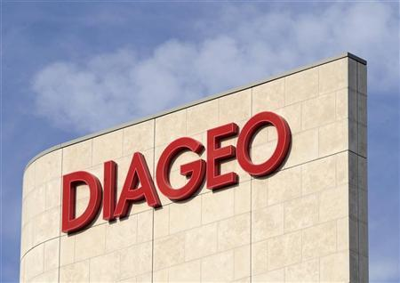 A signage is seen on the outside of Diageo offices in west London October 10, 2008. REUTERS/Toby Melville/Files