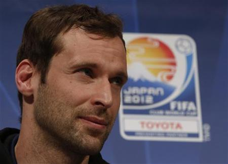 Chelsea's goalkeeper Petr Cech attends at a news conference for Club World Cup soccer tournament in Yokohama, south of Tokyo December 10, 2012. REUTERS/Issei Kato