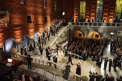 Nobel's austerity-hit banquet still a lavish affair