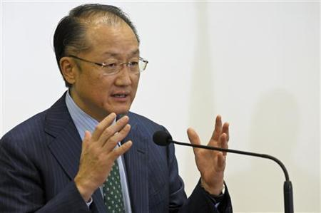Jim Yong Kim, President of the World Bank speaks to the media during a news conference in Port-au-Prince November 6, 2012. REUTERS/Swoan Parker