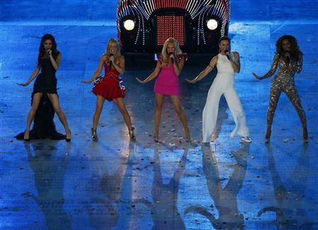 The Spice Girls perform during the closing ceremony of the London 2012 Olympic Games at the Olympic stadium August 12, 2012. REUTERS/David Gray