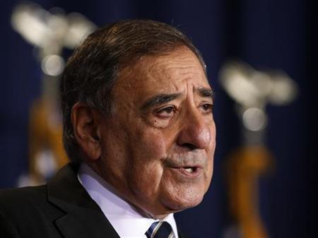 U.S. Secretary of Defense Leon Panetta speaks to the Nunn-Lugar Cooperative Threat Reduction symposium at the National Defense University in Washington, December 3, 2012. REUTERS/Larry Downing