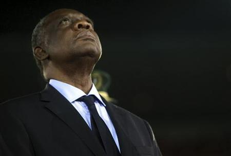 Issa Hayatou, President of the Confederation of African Football (CAF) attends the opening ceremony of the African Nations Cup soccer tournament in Estadio de Bata ''Bata Stadium'', in Bata January 21, 2012. REUTERS/Amr Abdallah Dalsh