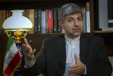 Iranian Foreign Ministry Spokesman Ramin Mehmanparast speaks with a Reuters correspondent during an interview in Tehran June 29, 2011. REUTERS/Caren Firouz/Files