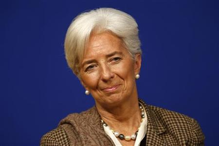 International Monetary Fund (IMF) Managing Director Christine Lagarde attends the conference ''Growth and integration in solidarity: what strategy for Europe?'' with top financial officials at the Economy ministry in Paris November 30, 2012. REUTERS/Charles Platiau