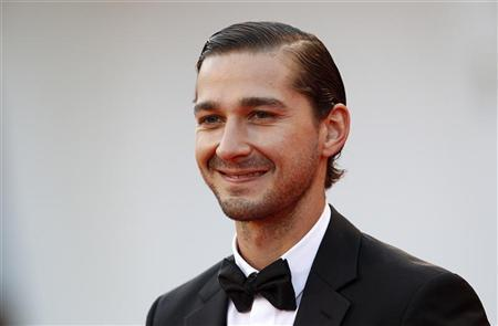 Actor Shia LaBeouf poses on the red carpet during a screening for the movie ''The Company You Keep'' at the 69th Venice Film Festival September 6, 2012. REUTERS/Tony Gentile