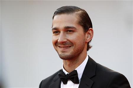 Actor Shia LaBeouf poses on the red carpet during a screening for the movie ''The Company You Keep'' at the 69th Venice Film Festival September 6, 2012. REUTERS/Tony Gentile/Files