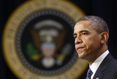 U.S. President Barack Obama delivers remarks at the White House in Washington November 28, 2012. REUTERS/Kevin Lamarque