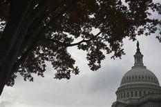 <p>Vue du Capitole, à Washington, qui abrite la Chambre des représentants et le Sénat américains. Les négociations entre la présidence américaine et la Chambre des représentants se sont intensifiées mardi pour dégager une issue à l'impasse du mur budgétaire mais aucun terrain d'entente n'a, pour l'instant, été trouvé entre l'administration démocrate et la majorité républicaine. /Photo d'archives/REUTERS/Jonathan Ernst</p>