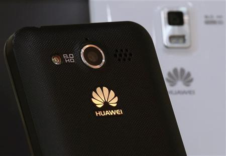 Huawei mobile phones are displayed in one of its offices in the southern Chinese city of Shenzhen September 24, 2012. REUTERS/Bobby Yip