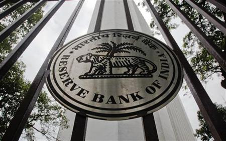 The Reserve Bank of India (RBI) logo is pictured outside its head office in Mumbai July 26, 2011. REUTERS/Danish Siddiqui/Files