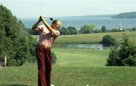 President Ford playing golf in a 1975 photo. REUTERS/Courtesy Gerald R. Ford Library