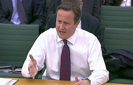 Britain's Prime Minister David Cameron appears before the Commons Liason Committee at parliament in London December 11, 2012. REUTERS/UK PARLIAMENT