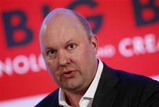 Marc Andreessen, co-founder and general partner of venture capital firm Andreessen Horowitz, speaks at the Iab Mixx Conference and Expo in New York, in this October 2, 2012 file photo. REUTERS/Mike Segar/files