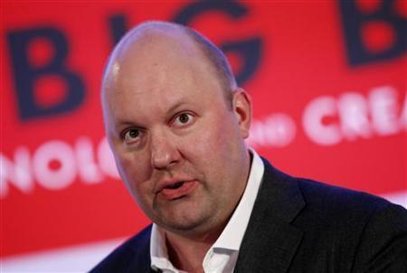 Marc Andreessen, co-founder and general partner of venture capital firm Andreessen Horowitz, speaks in New York, October 2, 2012. REUTERS/Mike Segar/Files
