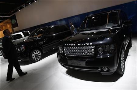 The Range Rover is seen at the Jaguar-Land Rover exhibition booth during the International Motor Show (IAA) in Frankfurt, September 14, 2011. The world's biggest auto show runs until September 25. REUTERS/Alex Domanski/Files