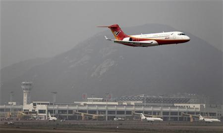 An ARJ21, made by Commercial Aircraft Corp of China (Comac), takes off for a test flight during the 9th China International Aviation & Aerospace Exhibition at an airport in Zhuhai, Guangdong province, in this November 16, 2010 file photo. REUTERS/Stringer