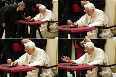 Pope needs help sending out blessing in first tweet