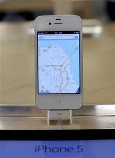 An iPhone5 is displayed at an Apple Store in San Francisco, California, September 21, 2012. REUTERS/Noah Berger