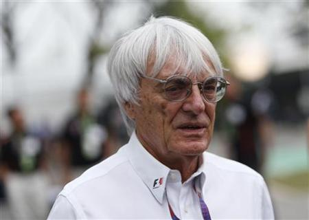 Formula One commercial supremo Bernie Ecclestone is pictured in the paddock ahead of the Singapore F1 Grand Prix at the Marina Bay street circuit in Singapore September 23, 2012. REUTERS/Edgar Su/Files