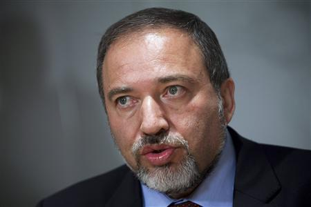 Israel's Foreign Minister Avigdor Lieberman addresses the media during a news conference in Jerusalem in this May 31, 2010 file photograph. REUTERS/Maya Hitij/Pool/Files