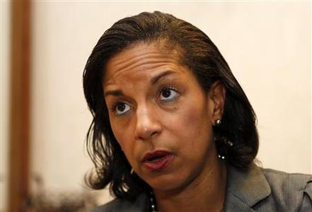 United States Ambassador to the United Nations Susan Rice is interviewed in Boca Raton, Florida, in this May 10, 2012 file photo. Rice says that she is withdrawing from consideration for Secretary of State to avoid a lengthy, costly Senate confirmation battle. REUTERS/Joe Skipper/Files