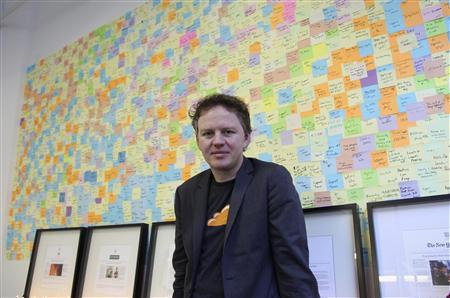 Matthew Prince, chief executive at an internet start-up company called CloudFlare, poses in his office in San Francisco December 10, 2012. Founded in 2010, CloudFlare markets itself as an Internet intermediary that shields websites from distributed denial-of-service, or DDoS, attacks, the crude but effective weapon that hackers use to bludgeon websites until they go dark. The 40-person company claims to route up to 5 percent of all Internet traffic through its global network. REUTERS/Gerry Shih