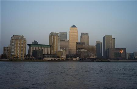 A view of Canary Wharf on the River Thames in London March 15, 2012. London will host the Olympic Games this summer from July 27 to August 12, 2012. REUTERS/Kieran Doherty