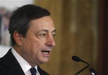 Il numero uno della Bce Mario Draghi. REUTERS/Bernadett Szabo