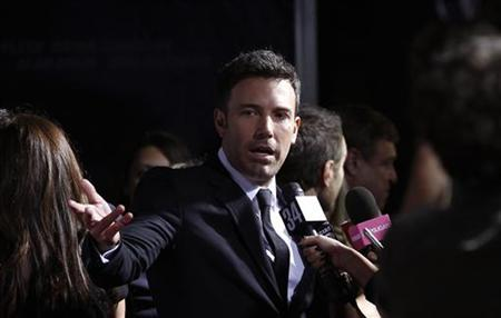Director and cast member Ben Affleck is interviewed at the premiere of ''Argo'' at the Academy of Motion Picture Arts and Sciences in Beverly Hills, California October 4, 2012. REUTERS/Mario Anzuoni/Files