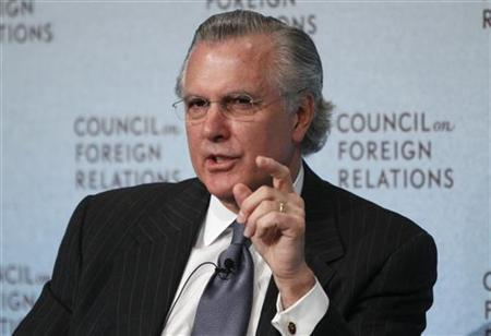 Richard W. Fisher, President and Chief Executive Officer for the Federal Reserve Bank of Dallas, speaks on International Economics at the Council on Foreign Relations in New York, March 3, 2010. REUTERS/Shannon Stapleton