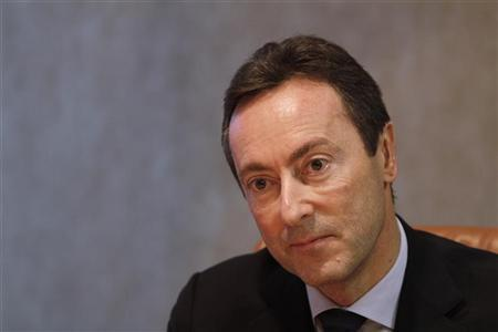 Airbus CEO Fabrice Bregier pauses during an interview with Reuters in London, December 3, 2012. REUTERS/Simon Newman