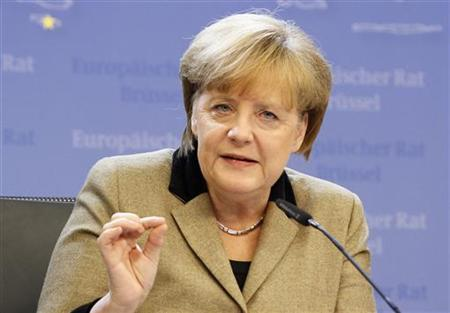 Germany's Chancellor Angela Merkel holds a news conference at the end of a European Union leaders summit, in Brussels December 14, 2012. REUTERS/Sebastien Pirlet/Files