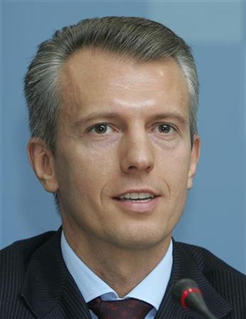 Valery Khoroshkovsky is seen in this May 11, 2008 file photo in Kiev. REUTERS/Stringer/Files