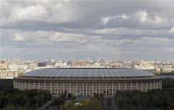 A general view of the Luzhniki Stadium in Moscow September 29, 2012. REUTERS/Maxim Shemetov