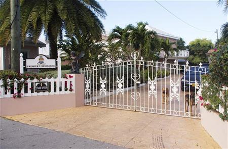 The entrance to the home of Cayman Islands Premier McKeeva Bush after investigators searched inside for evidence of economic crimes, in Georgetown December 11, 2012. REUTERS/Shurna Robbins