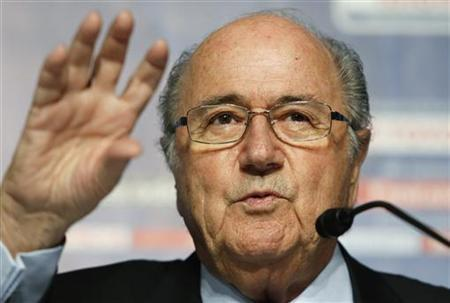FIFA President Sepp Blatter speaks during a news conference following their executive committee meeting in Tokyo December 15, 2012. REUTERS/Toru Hanai