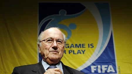 FIFA President Sepp Blatter attends a news conference following their executive committee meeting in Tokyo December 15, 2012. REUTERS/Toru Hanai