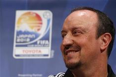 Técnico do Chelsea Rafael Benitez elogiou a dedicação dos jogadores da equipe, que se prepara para enfrentar o Corinthians no Mundial de Clubes. 10/12/2012 REUTERS/Issei Kato
