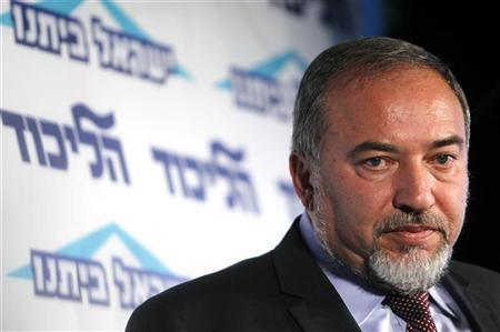 Israeli Foreign Minister Avigdor Lieberman speaks at a conference for young members of his Yisrael Beiteinu party in Tel Aviv December 13, 2012. REUTERS/Amir Cohen