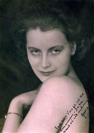 An autographed and unpublished photo of Swedish film siren Greta Garbo, believed to be from the 1920's, was addressed to her friend Vera Schmiterlow and reads, ''Thanks little Vera for our time together. You have been so kind to me - Gurra'', an abbreviation of her real name, Gustafsson. REUTERS/Stringer/Files