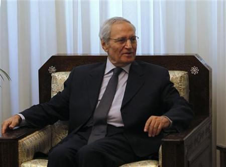 Syria's Vice President Farouq al-Sharaa sits in his office during a meeting with an Iranian delegation (not in picture) in Damascus August 26, 2012. REUTERS/Khaled al-Hariri