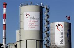 A general view shows Switzerland's Holcim cement production plant in Siggenthal, February 29, 1012. REUTERS/Christian Hartmann