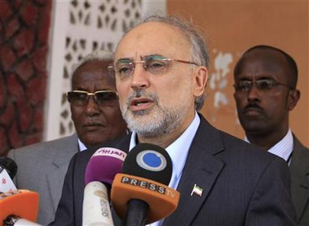 Iranian Foreign Minister Ali Akbar Salehi addresses a news conference during his visit to Somalia, in Mogadishu November 14, 2012. REUTERS/Omar Faruk/Files