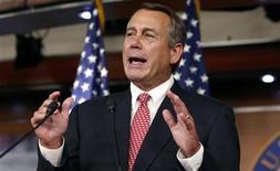 """Presidente da Câmara dos Deputados John Boehner se aproximou um pouco das exigências do presidente dos Estados Unidos Barack Obama sobre medidas para evitar o """"abismo fiscal"""". 13/12/2012 REUTERS/Kevin Lamarque"""